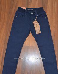 Котоновые брюки школа 116-152см структурная ткань Taurus Венгрия
