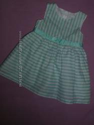 Летние платья на  малышку 7-12 месяцев