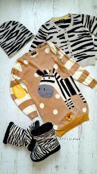 Комплектик зебра, Next  и HM 4-5 лет