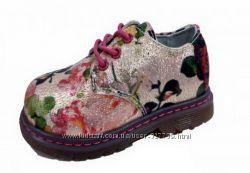 Красивые туфли-полуботиночки Цветы 618, р. 23, 28