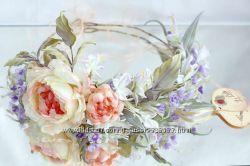 Свадебный веночек на голову Полевые травы