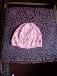 демисезонная шапка для девочки 2-3 годика Amal