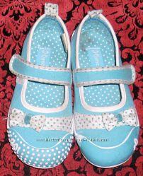 бирюзовые тапочки - мокасины для девочки 26 р. для садика