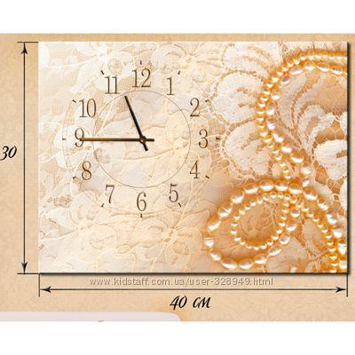 Настенные часы на натуральном холсте 30х40 см