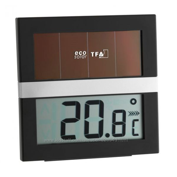 Термометр-гигрометр ECO Solar на солнечной батарее