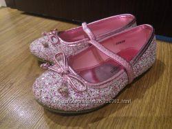 Балетки туфельки нарядные блестящие 15 см