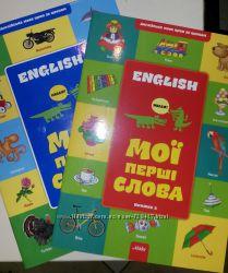 English Мої перші слова. Книга з наліпками.
