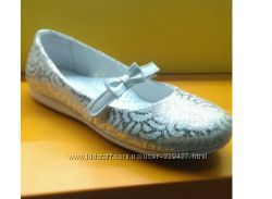 Очень красивые кожанные туфли на девочку. Качество от украинской фабрики.