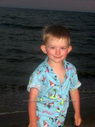 Голубая рубашечка Next размер на 3-4 годика в идеальном состоянии