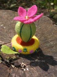 Валяний кактус декор і радість для Вашої квартири