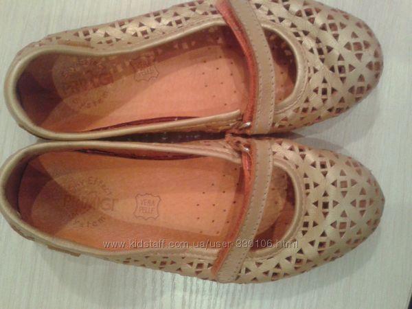 Золотые туфельки кожа Primigi Италия 18см