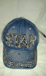 Джинсовые кепки для девочек подросток