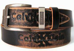 Кожаный ремень Премиум класса Calvin Klein, Цена Снижена