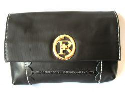 Кожаный черный клатч Уценка, супер Цена за Натуральную Кожу