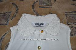 Очень красивая блуза New Look с гипюровым воротничком