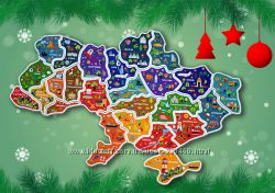 Пазлы магнитные карта Украина