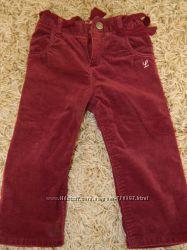 Вельветовые штанишки H&M, р. 74