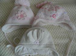 Красивые шапочки для малышки от 3 - 12 мес.