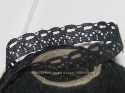 Узкое кружево 5, черное ширина 15 мм