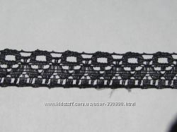 Узкое кружево 7 черное ширина 15 мм