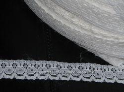 Узкое кружево 9, ширина 15 мм белое