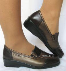 311. Туфли Hotter Германия мягчайшая кожа 37 р. хорошая полнота, как тапочк