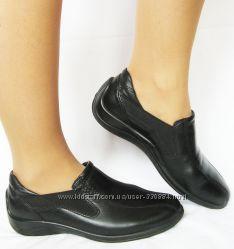 Туфли, мокасины Ecco легенькие на широкую ногу с косточками