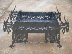 Декоративный раскладной мангал Драконы