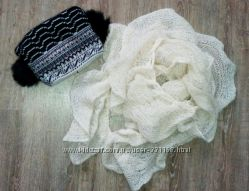Тепла шапка і шарф шерсть