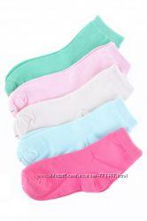 Носочки для девочки с 25 по 36 размер, упаковка 5 пар. Польша, хлопок