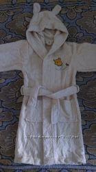 Натуральный махровый халат, на рост 104-110см