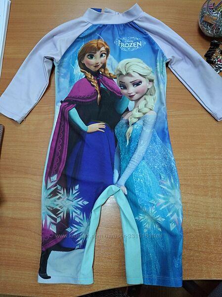 Защитный костюм от солнца с Анной и Эльзой 1,5-2 года