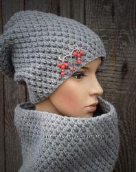 Комплект шапка-чулок и снуд.