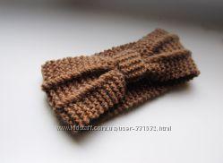 Вязаная повязка вместо шапки