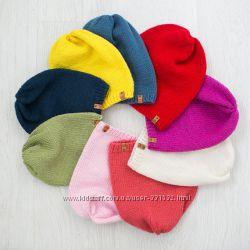 Детские яркие шапки бини. Ручная работа