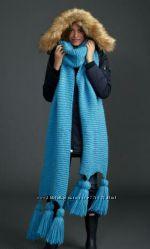 Мега шарф с кисточками. Ручная работа