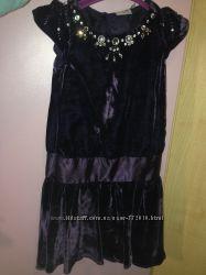 Бархат-велюр платье с камнями, очень красивое