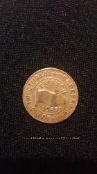 значок 1 фестиваль 1957 года