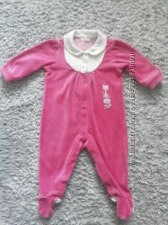 Человечек велюровый CHICCO для девочки - до 6 месяцев.