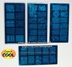 Пластины для стемпинга серии COOL с пластиковой подложкой
