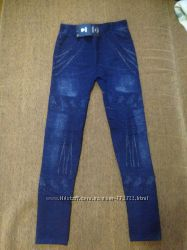 Махровые лосины с ластовицей под джинс