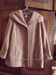 Пальто верблюжьего цвета 54-56 размер