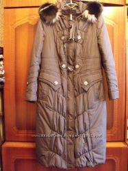 очень теплое зимнее пальто Nui Very Маренго 52-54р
