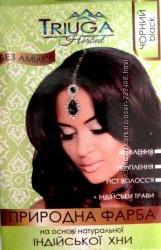 Натуральная краска для волос на основе индийской хны Triuga Herbal Черная