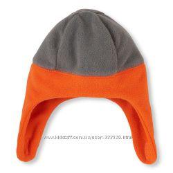 Флисовая шапка детская ChildrenPlace LB Серо-оранжевая
