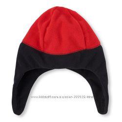 Флисовая шапка для мальчика ChildrenPlace LB Красно-черная