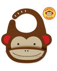 Слюнявчик силиконовый Skip Hop Monkey
