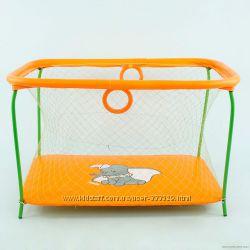 Манеж с крупной сеткой Слоник оранжевый