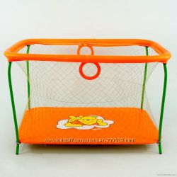 Манеж с крупной сеткой Винни Пух оранжевый