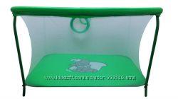 Манеж с мелкой сеткой Слоник зеленый